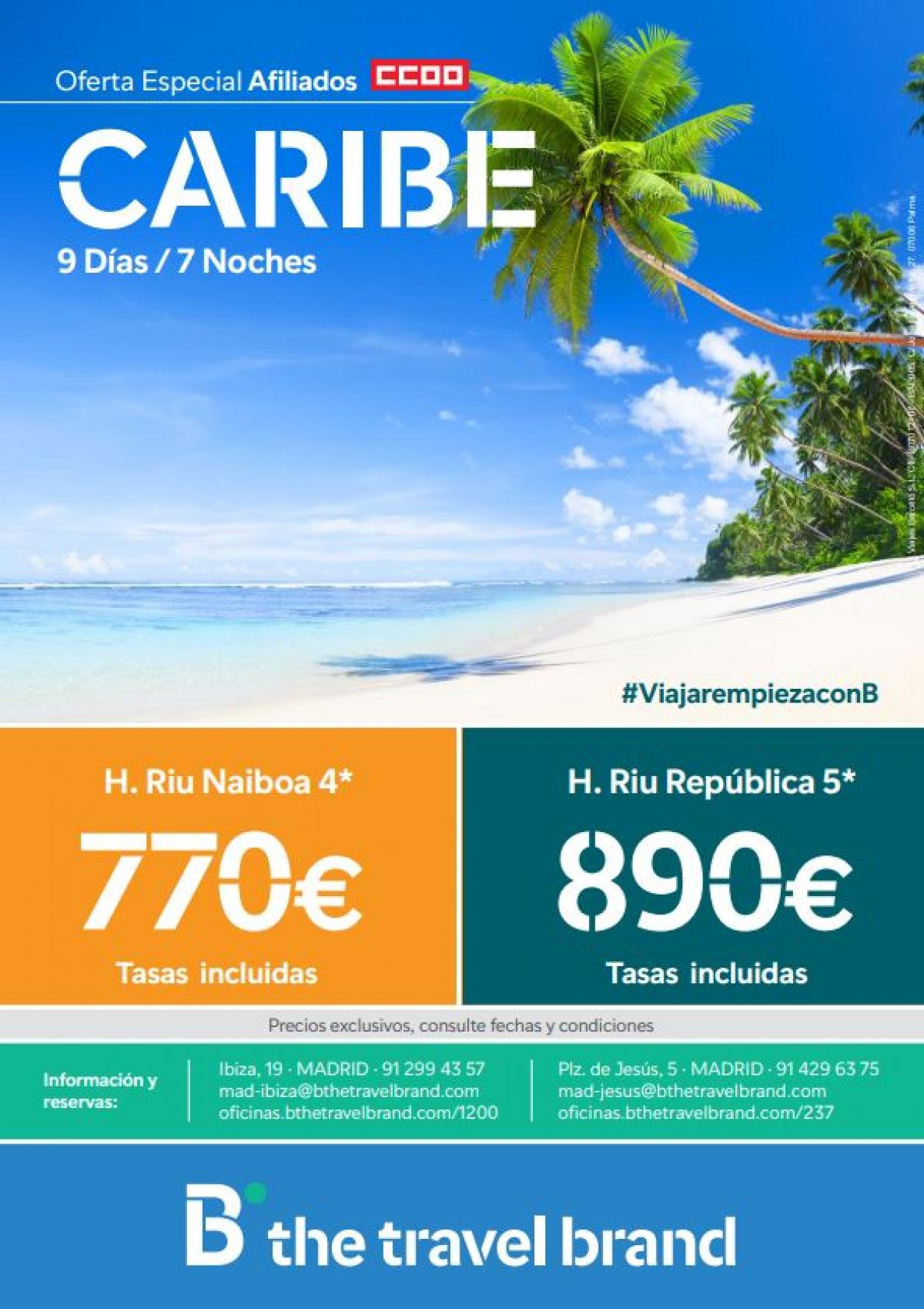 Caribe B the travel brand
