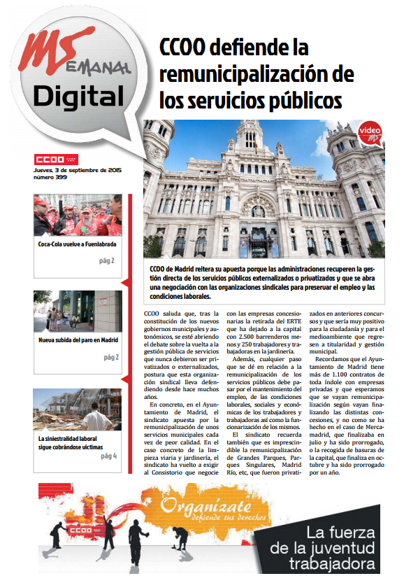 MADRID SINDICAL DIGITAL Nº 399