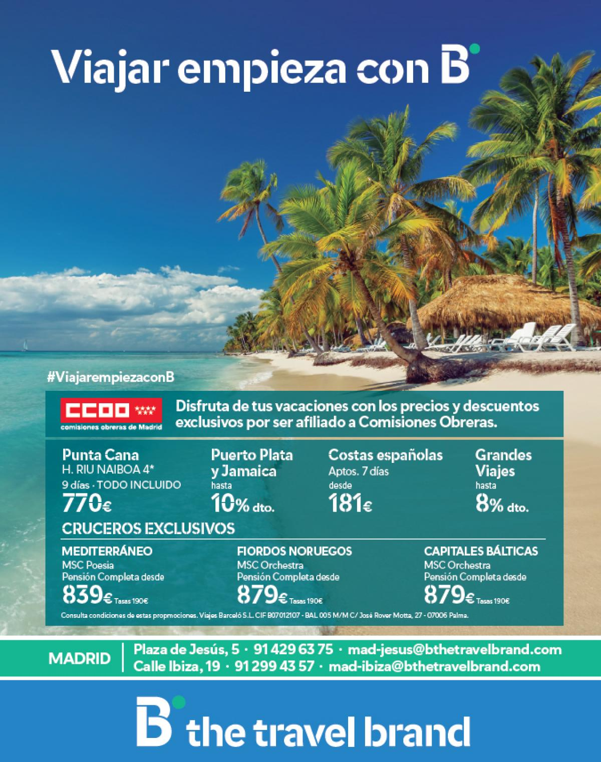 Oferta afiliados B the Travel