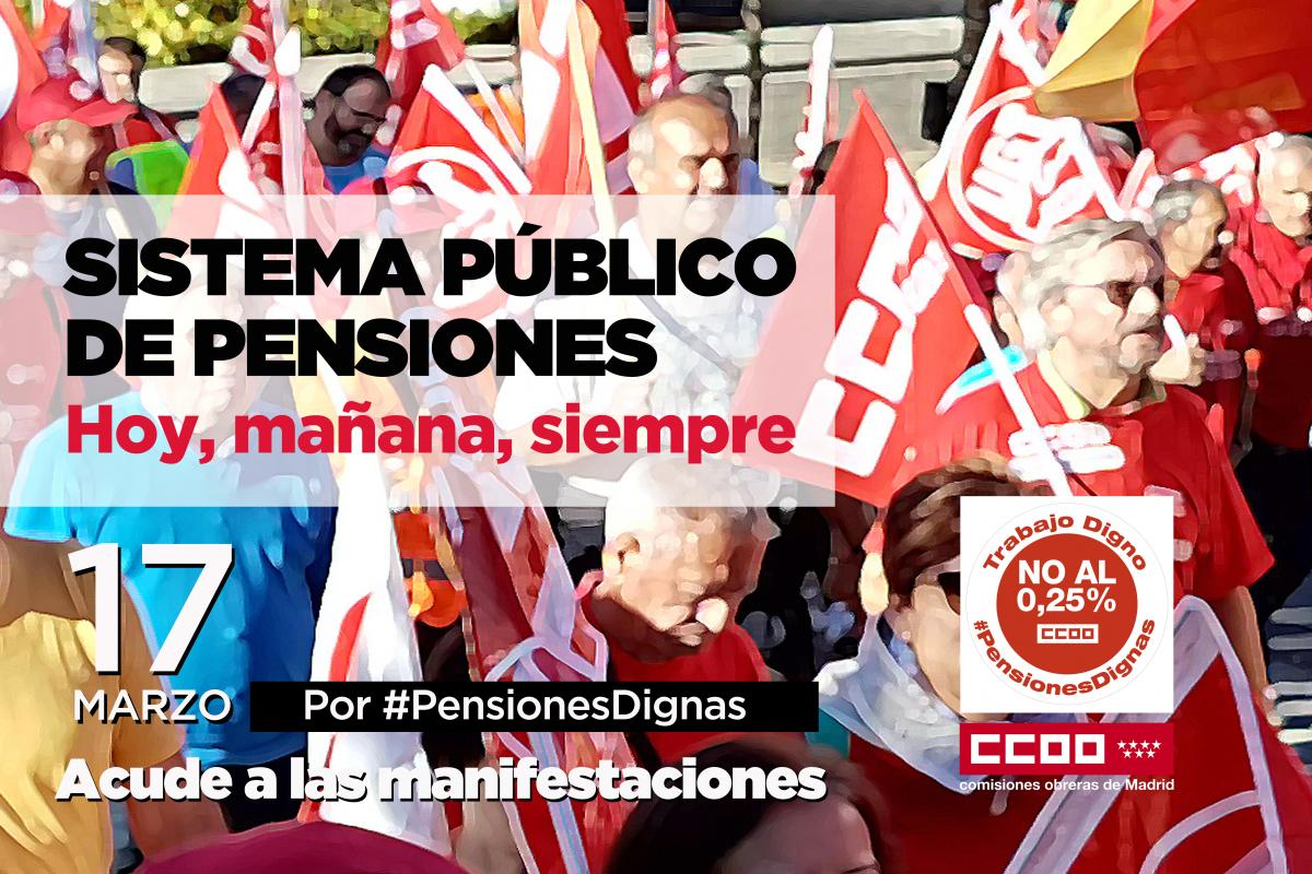 Cartel movilización pensiones