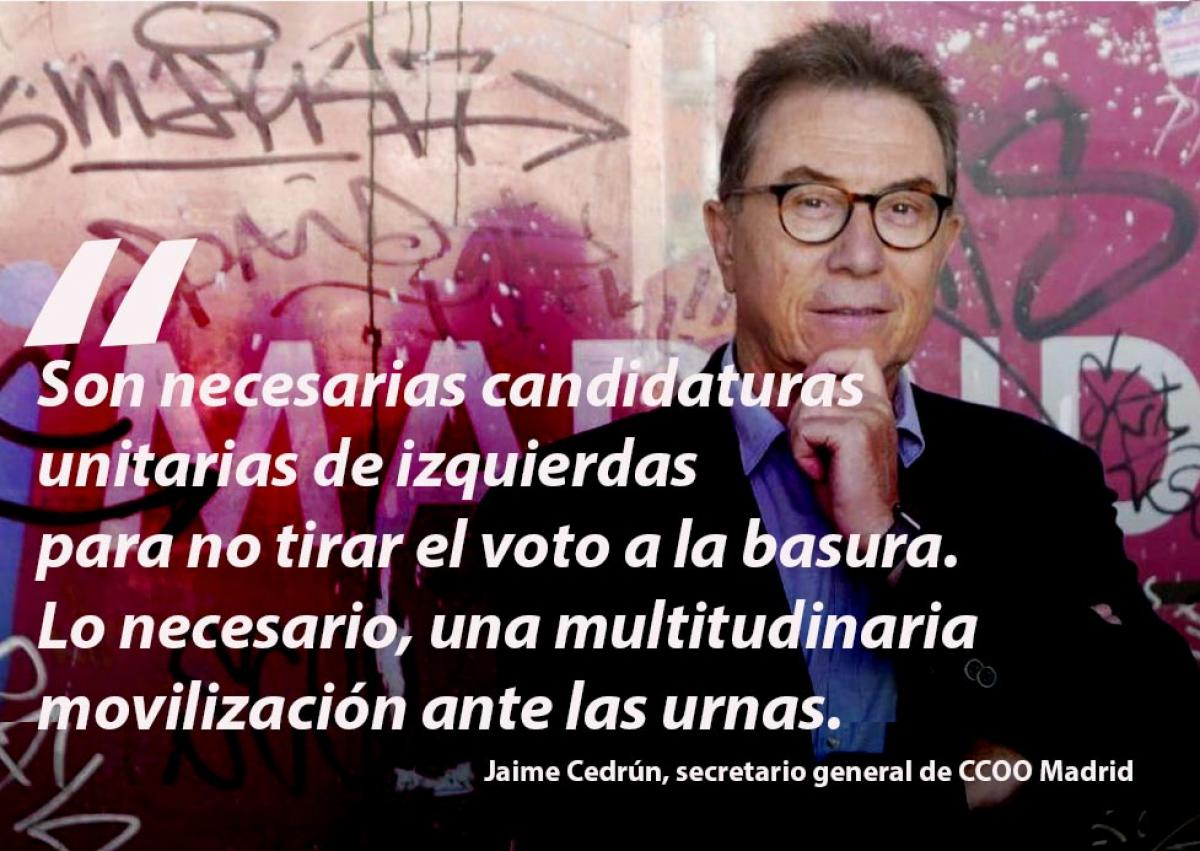 Jaime Cedrún, secretario general de CCOO Madrid
