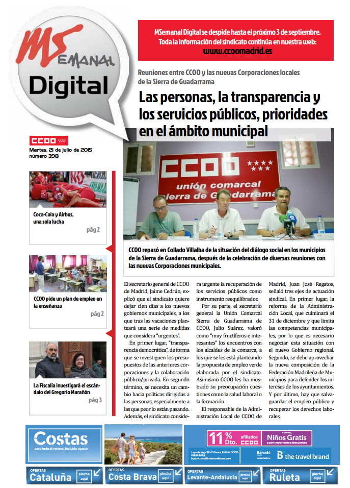 Madrid Sindical Digital nº 398