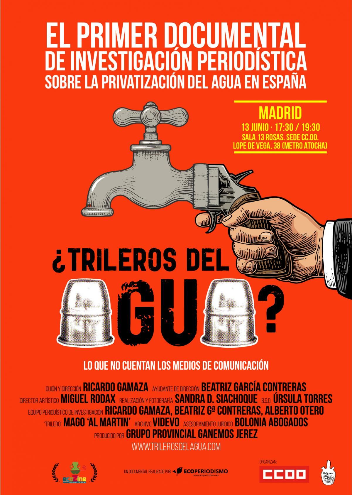 Documental investigación sobre la privatización del agua