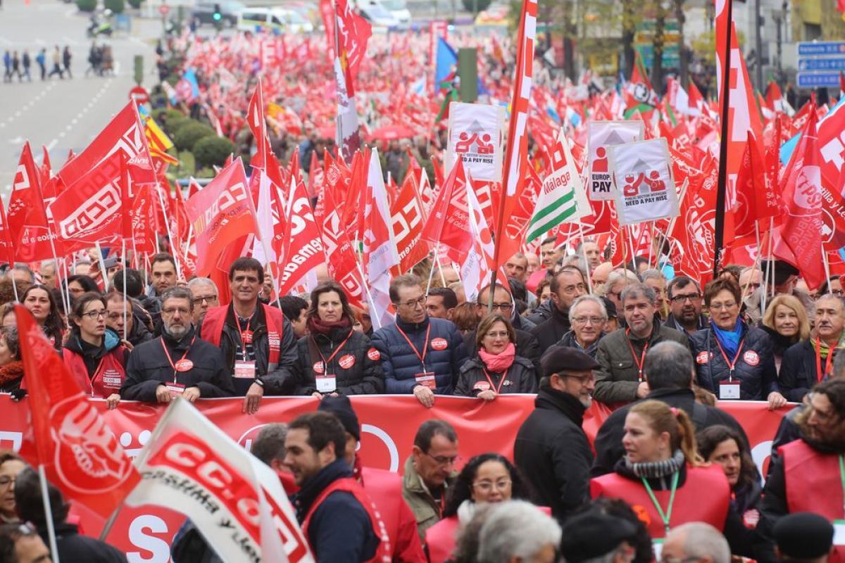 Resultat d'imatges de ccoo manifestaciones