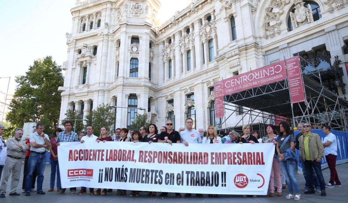 CCOO y UGT contra los accidentes laborales