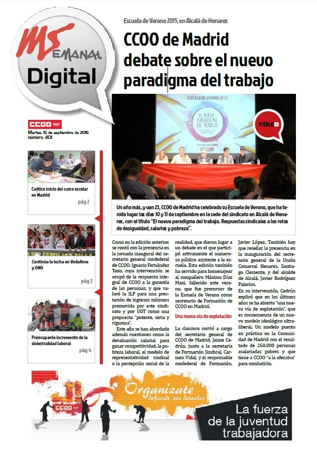 MADRID SINDICAL DIGITAL Nº 401